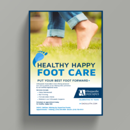 Orthopaedic Associates of Duluth Healthy Happy Foot Care Poster