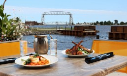Pier B Food With A Lift Bridge View.