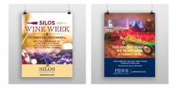 PIer B and Silos Posterboard Display designs.