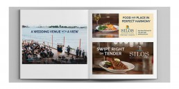 Pier B and Silos Print Ad Designs.