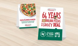 Sammy's Table Promotion Examples.