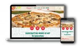 Sammy's Pizza website design on desktop and mobile