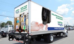 twin ports paper supply white truck wrap
