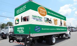 twin ports paper supply truck wrap
