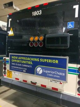 Superior Choice Bus Sign Back All Text