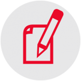 Paper And Pencil Red Icon