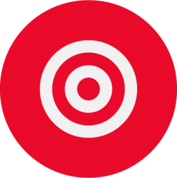 Target icon in white and red