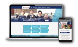 Northland Foundation Website designs on desktop and mobile.