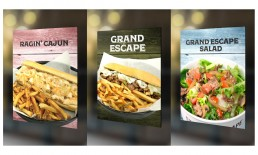 Steak Escape In Store Menu Ads.