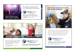 Superior Choice Credit Union Print Ad Designs.