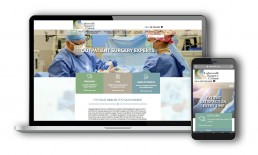 Lakewalk Surgery Center Website Designs on Mobile and Laptop.