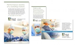 Lakewalk Surgery Center Print Ad Designs.