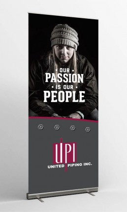 united piping inc our passion is our people standing banner
